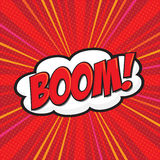 BOOM! comic word Stock Photo