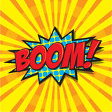 BOOM! comic word Royalty Free Stock Images
