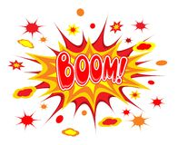 Boom comics icon Royalty Free Stock Photos