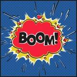 BOOM - Comics vintage style speech bubble, cartoon vector design. Stock Images