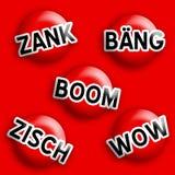 Boom comique de signe d'icône Images stock