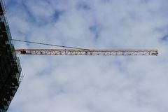Industrial crane in sky Stock Photo