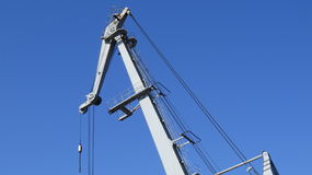 Boom crane factory Royalty Free Stock Photography
