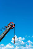 Boom crane on the sky background. Stock Images
