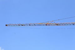 Boom of crane tower Stock Image