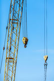 Boom of crane with two hooks Royalty Free Stock Images