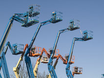 Boom cranes Royalty Free Stock Photo