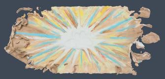 Boom de achtergrond van Bom en uitgespreide abstracte kunst van de handcr van de vormklei Royalty-vrije Stock Foto's