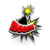 Boom de la publicité de bulle des textes de bande dessinée Image stock