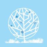 Boom in de winter Royalty-vrije Stock Afbeelding