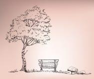 boom die zich naast stoel bevinden Royalty-vrije Stock Fotografie