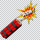Boom of the dynamite. Comic book explosion. Royalty Free Stock Image