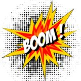 Boom of the dynamite. Comic book explosion. Royalty Free Stock Images