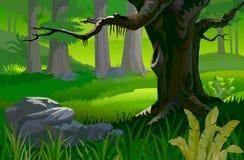 Boom in een tropisch bos vector illustratie