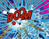 Boom Explosion Stock Photo