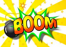 Boom explosion Royalty Free Stock Images