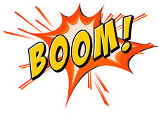 Boom flash on white Royalty Free Stock Photos