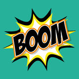 Boom  icon. Pop art design. Vector graphic Royalty Free Stock Image