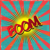 Boom label Stock Images
