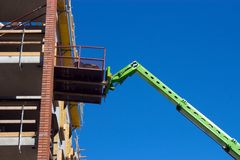 Boom lift Royalty Free Stock Photo