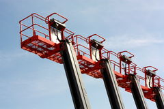 Boom lifts Royalty Free Stock Photo