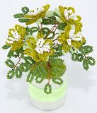 Boom met bloemen, beadwork Stock Foto's