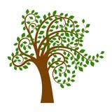 Boom met groene bladeren vector illustratie