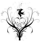 Boom met vogel Royalty-vrije Stock Afbeelding