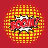 BOOM ! mot comique Image stock
