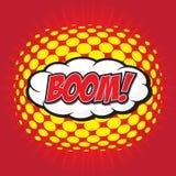 BOOM ! mot comique Photographie stock