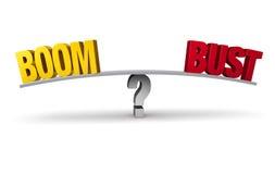 Boom oder Fehlschlag? Lizenzfreie Stockbilder