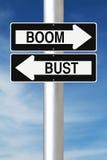 Boom oder Fehlschlag Stockbilder