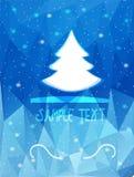boom op een blauwe achtergrond Stock Fotografie