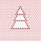 Boom op Roze Dots Background Royalty-vrije Stock Foto's