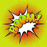 Boom pop art on a background of halftone Stock Images