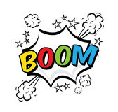 Boom pop art Royalty Free Stock Photos