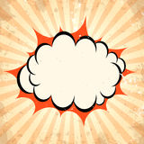 Boom pow cloud background Stock Images