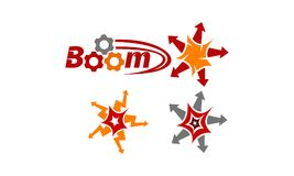 Boom Quick Marketing Set. Vector Stock Photography