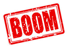 Boom red stamp text Royalty Free Stock Photo