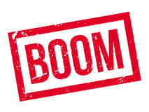 Boom rubber stamp Royalty Free Stock Photos