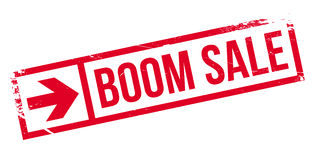 Boom Sale rubber stamp Royalty Free Stock Images