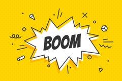 Boom, speech bubble. Banner, speech bubble, poster and sticker stock image