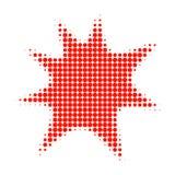 Boom Splash Halftone Dotted Icon stock illustration
