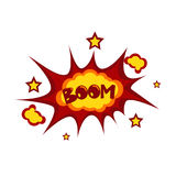 Boom Sticker Chat Message Label Icon Colorful Banner Stock Photos