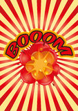 Boom sunburst Royalty Free Stock Images