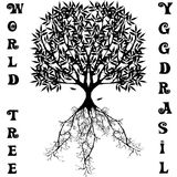 Boom van de Yggdrasil de vectorwereld van Skandinavische mythologie Royalty-vrije Stock Foto