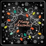 Boom van het Kerstmis de hand getrokken bont voor Kerstmisontwerp Royalty-vrije Stock Foto's