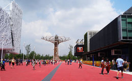 Boom van het leven, Expo 2015 Stock Foto