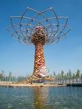 Boom van het leven in Expo 2015 Stock Foto's