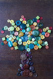 Boom van kleurrijke knopen Stock Foto's